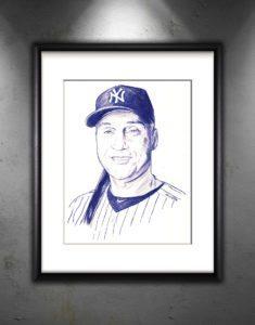Derek Jeter Sketch Print