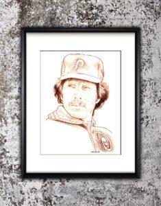 Mike Schmidt Sketch Print