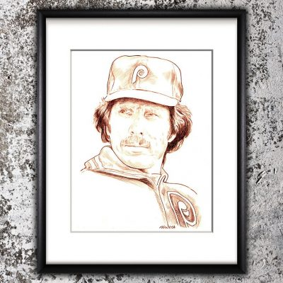 Mike Schmidt Sketch Print